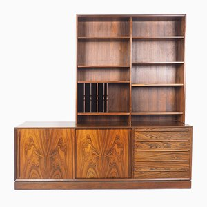 Rosewood Sideboard with Bookcase from H.P. Hansen, 1960s