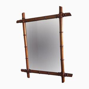 Vintage Rattan Mirror, 1920s