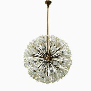 Lampada Sputnik in vetro di Murano e metallo di Emil Stejnar, anni '60