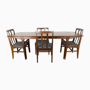 Afromosia Table and 4 Chairs by John Herbert for Younger, 1960s