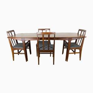 Tavolo in afromosia e quattro sedie di John Herbert per Younger, anni '60