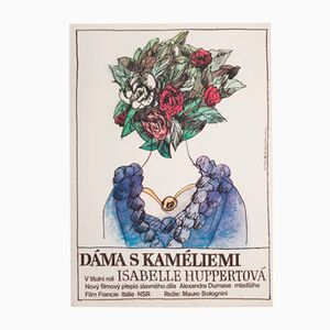 Lady of the Camellias Movie Poster by Karel Míšek, 1983
