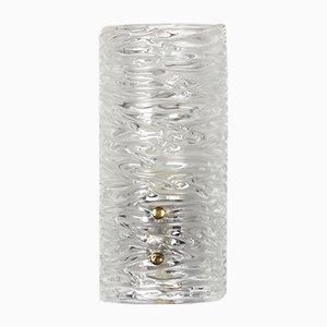 Apliques de pared 8493 de vidrio de Carl Fagerlund para Orrefors, años 60. Juego de 2