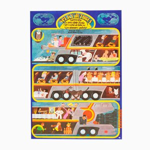The Big Bus Movie Poster by Jan Meisner, 1978