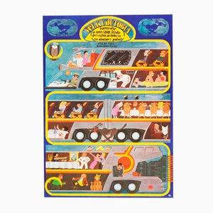 The Big Bus Movie Poster by Jan Meisner, 1978