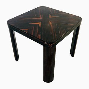 Vintage Art Deco Macassar Side Table