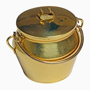 Vintage Brass Ice Bucket from Skultuna, 1960s