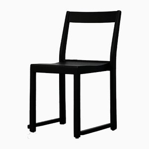 Swedish Black Painted Stackable Chair by Sven Markelius, 1931