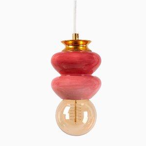Lampada piccola della serie Apilar rosa di Studio Noa Razer
