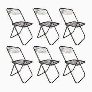 Metal Folding Chairs by Niels Gammelgaard for Ikea, 1970s, Set of 6