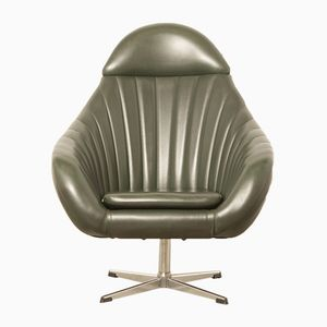 Vintage Green Leatherette Lounge Chair from Rohé Noordwolde