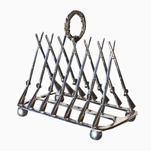Silver Plated Toast Rack from Goodfellow & Sons, 1880s