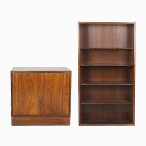 Small Vintage Rosewood Bookcase by Carlo Jensen for Hundevad, 1960s