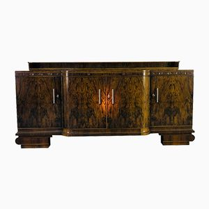 Large Art Deco Walnut Sideboard, 1920s