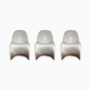 White Panton Armchairs by Verner Panton for Fehlbaum, 1971, Set of 3