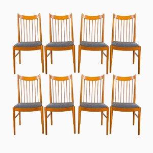 Modell 422 Esszimmerstühle aus Teak von Arne Vodder für Sibast, 1960er, 8er Set