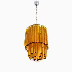 Midcentury Italian Murano Glass Chandelier from Venini, 1970s