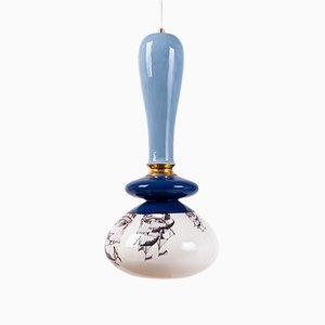 Grande Lampe à Suspension Série Apilar Rose de Studio Noa Razer