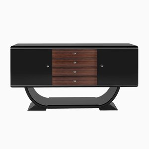 Small Art Deco Macassar Wood Sideboard