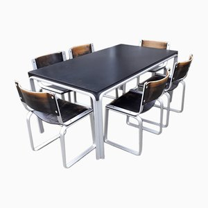 Vintage Dining Table with 6 Chairs by Pierre Mazairac for Pastoe, 1970s