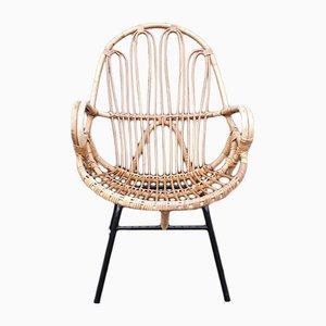 Niederländischer Vintage Stuhl aus Rattan von Rohé Noordwolde