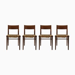 Model 351 Teak Chairs by Georg Leowald for Wilkhahn, 1955, Set of 4