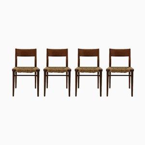 Modell 351 Teak Stühle von Georg Leowald für Wilkhahn, 1955, 4er Set