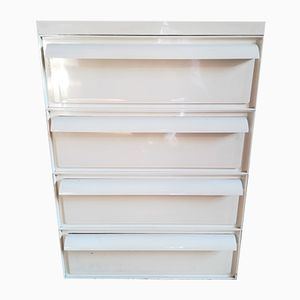Vintage white Drawers by Simon Fussell for Kartell, 1970s