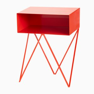 Mesa auxiliar Robot Side Table roja de &New