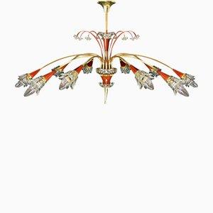 Lámpara de techo Mid-Century de Maison Lunel, años 50