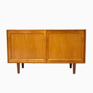 Aparador o mueble de TV danés Mid-Century de teca