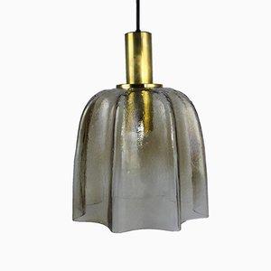 Lámpara colgante era espacial de Glashütte Limburg, años 70