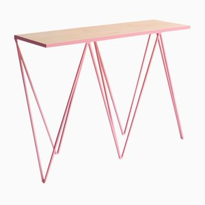 Giraffe Console Table in Pink by &New