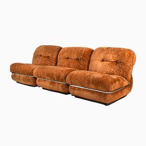Unterteiltes italienisches Vintage Sofa, 1970er