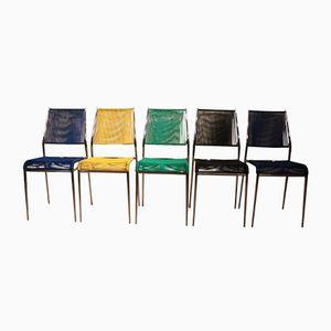 Scoubidou Stühle, 1970er, 5er Set