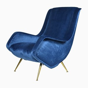 Mid-Century Lounge Chair by Aldo Morbelli for ISA Bergamo, 1950s