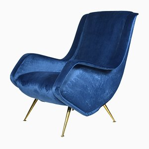 Vintage Italian Lounge Chair by Aldo Morbelli for ISA Bergamo, 1950s
