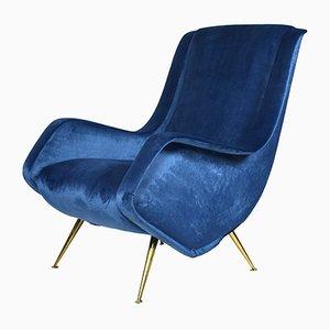 Vintage Italian Lounge Chair by Aldo Morbelli for ISA Bergamo, 1950s