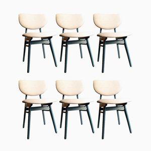 Chaises de Salon Laquées Bleu, 1960s, Set de 6