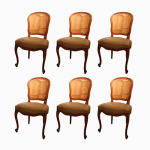 Vintage French Dining Chairs, 1930s, Set of 6