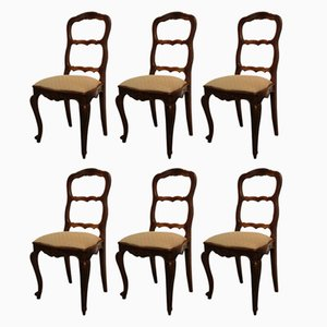 Antique French Dining Chairs, Set of 6