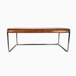 Mid-Century Oak & Chrome Desk, 1960s