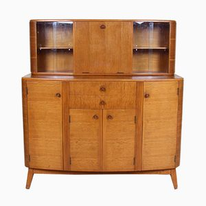 Mid-Century Oak Cocktail Highboard, 1950s