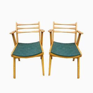 Chaises Mid-Century en Teck, 1950s, Set de 2