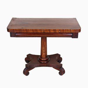 Table Extensible pour Jeux de Cartes Victorienne Antique en Acajou