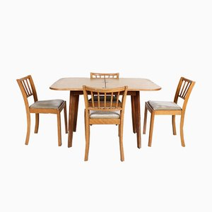 Vintage Oak Dining Table and 4 Chairs