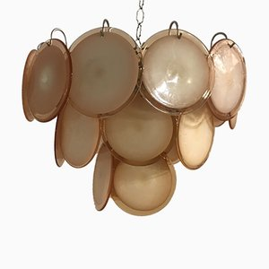 Mid-Century Murano Glass Disc Chandelier, 1970s