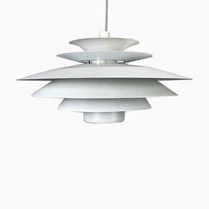 Vintage Danish Metal Ceiling Lamp