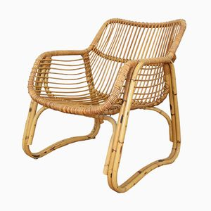 Vintage Rattan Easy Chair, 1970s