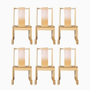 Swedish Church Chairs, 1950s, Set of 6